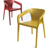 Outdoor Furniture Plastic Dining Chair Lounge Style Leisure Chairs