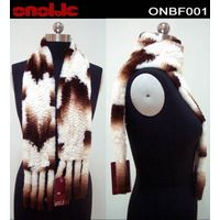Rex rabbit knitted fur scarf