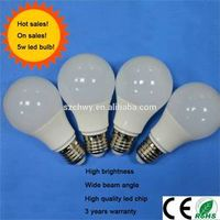 New product 5w led bulb with 2 years warranty