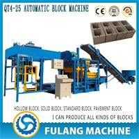 QT4-25 China supplier semi automatic cement solid hollow paver brick machine manufacturer