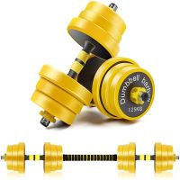 Adjustable Dumbbells Free Weight Set Dumbbell Barbell 2 in 1 Home Gym Equipment Barbell