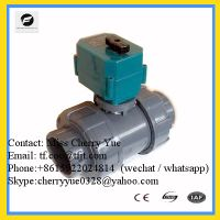 Sell 2 way dn15-dn50 brass stainless steel upvc CTF-001 Electric Ball Valve