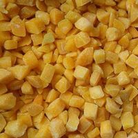 frozen IQF diced yellow peach