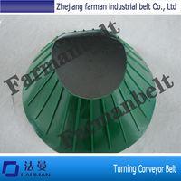 Turning PVC conveyor belt