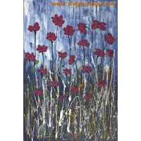 Hand painted flower fields oil painting on canvas