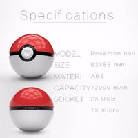 IN STOCK 2016 Customizable Mini World Top Game Pokemon Go Pokeball power bank