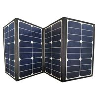 Portable solar panel charger DC / USB output foldable solar charger 50w to 120w for camping RV thumbnail image
