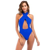 Sexy High Waist Cut Out One Piece Monokini Bikini Swimsuits Beachwear thumbnail image