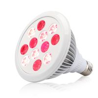 SGROW Portable Handheld E27 Socket Red Led Light Bulb Therapy Lamp,Full Body 24W Red Light Therapy