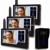 3.5 inch color display touch key wireless video door phone for apartment(1v3)