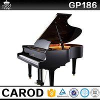 cheap black grand piano 186cm