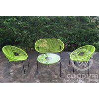 GW3251SET New design 2016 garden outdoor furniture steel rattan sofa set
