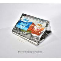 Plastic thermal shopping tote bag