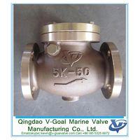 JIS F7371 5K Marine Bronze Swing Check Valve