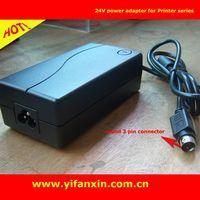 24V 3-pin Ac adapter for Epson TM-T88iii TM-U220 TM-U200 POS printer thumbnail image