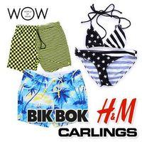 Wholesale women and men swimwear from known brand labels