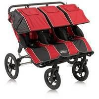 Baby Jogger Summit 360 Triple Stroller in Red/Black