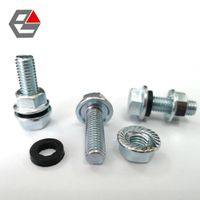 Silo bolt with EPDM washer and hex flange nut thumbnail image