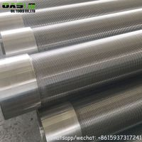 AISI304L Reinforced v wire wrapped water well screens