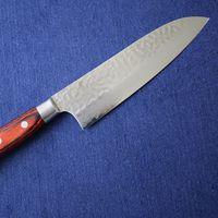 Japanese Santoku VG10 Damasucus Kitchen Knife #07392 thumbnail image