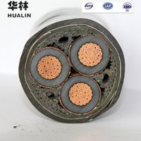 8.7/15KV medium voltage armored power cable copper XLPE/PVC steel tape Armored CTS 3185mm2 electri