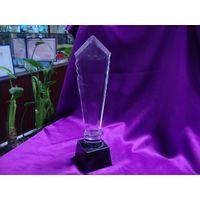 Crystal trophy, crystal medal,