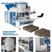 Mobile block making machine