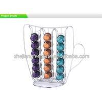 36 Capacity Chromed Plated Nespresso Coffee Capsule rack Holder