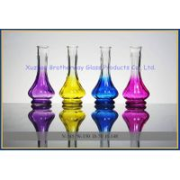 fancy vase shaped colorful glass reed diffuser bottle