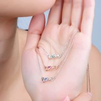 Love Design 14K Gold Sapphire Pendant Necklace for Women Fine Jewelry thumbnail image