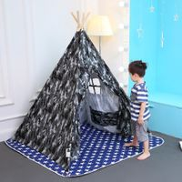 CE Approved Wholesale Kids Cotton Canvas Teepee Children's Plain White Tipi Tents with Mat