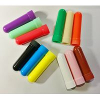 blank nasal inhaler tubes aromatherapy inhaler coarse salt inhaler tubes with cotton wicks