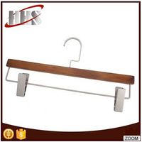Hot Sale Wooden Hangers For Pant With Two Clips