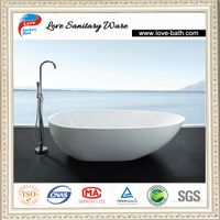 2014 factory price corian stone bathtub