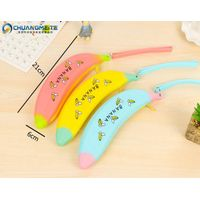 New style banana shaped zipper silicone pen bags makeup coin purses promotion bags thumbnail image