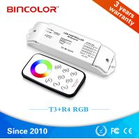 T4 R4 12v 24v high quality full color circle led rgb light touch remote controller