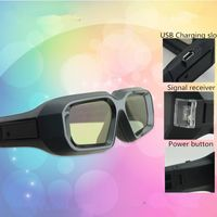 Active Shutter 3D glasses support Infared and Blueth signal for Sony/ChangHong/ Samsung/ LG/ PANASON