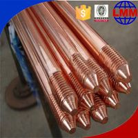 copper earth rods with clamps