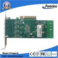 10G Quad Optical Port Network Adapter Ethernet Network Card PCI-E X8 Wired Adapter thumbnail image