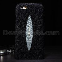 Pearl Grain Real Fish Leather Back Housing Skin for iPhone 6 Plus 5.5 inch