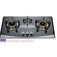 three burner color coated steel gas cooker