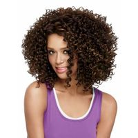 short brown kinky curly synthetic wigs for black women sw0444