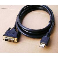 Premium HDMI to DVI Cable Gold 2 Metre thumbnail image