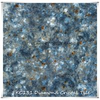 8KC131 Dark Blue Diamond Crystal Floor Tile Piastrelle Da Pavimento