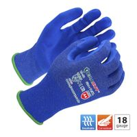 18 gauge Blue TERACUT® liner blue SUPREMAX FOAM Nitrile palm coated gloves(Working Protection TS-52)