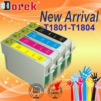 Free Shipping(20 pieces/lot),For EPSON XP-302 Printer,Compatible ink cartridge T1801~1804 four color