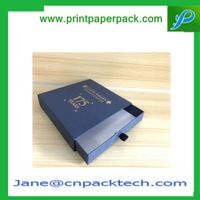 Custom Printed Lid and Tray Design Paper Box Drawer Type Box