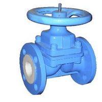 liner PTFE/FEP valve,diapghragm valve,bolted bonnet design,cast steel, HYDROFLUORIC ACID thumbnail image