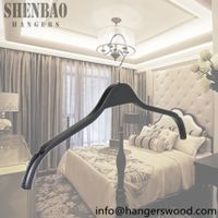 Flat Body Laminated Coat Hanger with Anti-slip Bar for Men Clothes