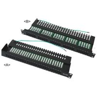 CAT.3 25 port, 50 port voice patch panel